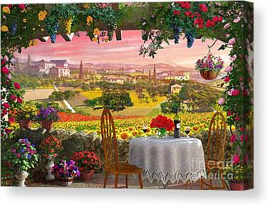 Vineyard Digital Art Canvas Prints