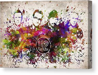 U2 Canvas Prints