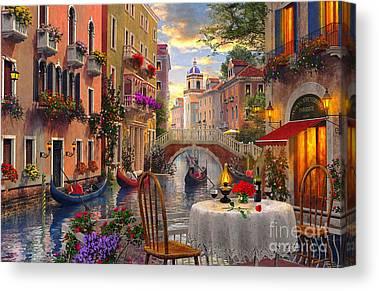 Coloured Digital Art Canvas Prints
