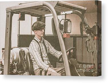 Forklifts Canvas Prints