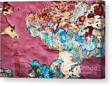 Chipping Paint Canvas Prints
