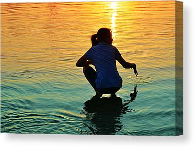 Water Play Canvas Prints