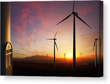 Wind Farms Canvas Prints