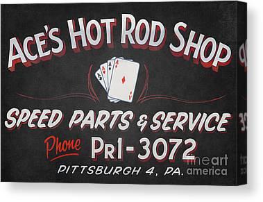 Classic Hot Hod Canvas Prints