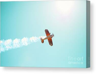 Biplane Canvas Prints