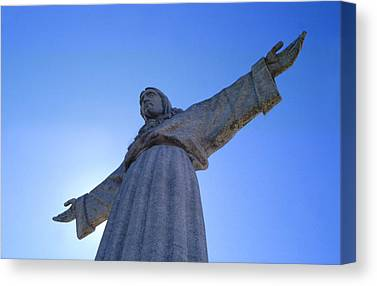 Catholic Monument Of Jesus Christ Inspired By The Christ The Redeemer Canvas Prints