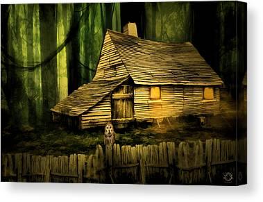 Ghostly Barn Canvas Prints