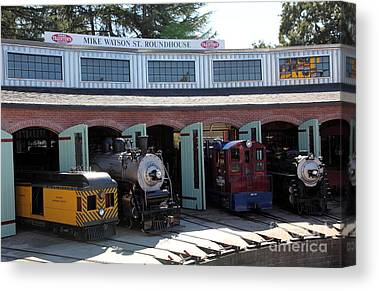 Traintown Canvas Prints