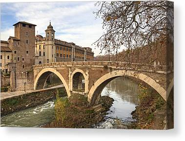 Tiber Island Canvas Prints