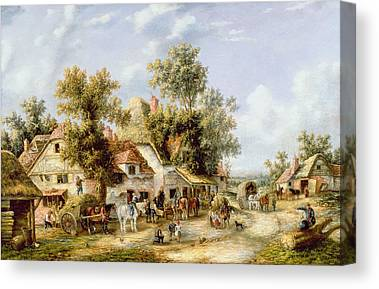 Wayside Inn Paintings Canvas Prints