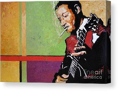 Jazz Musician Canvas Prints