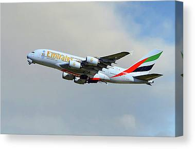 Airbus A380 Canvas Prints