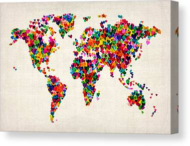 Geography Canvas Prints