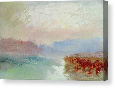 Abstract Beach Landscape Drawings Canvas Prints