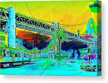 China Basin District Canvas Prints