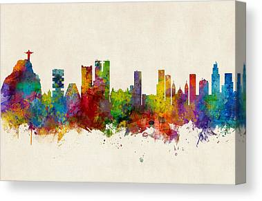 Rio De Janeiro Skyline Canvas Prints