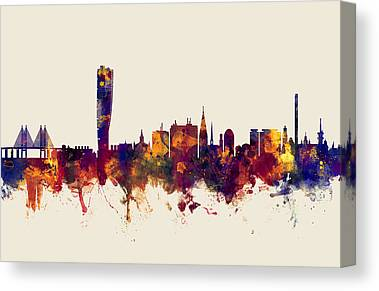 Malmo Digital Art Canvas Prints