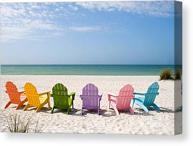 Beach Resort Canvas Prints
