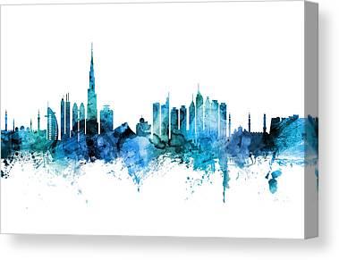 Dubai Skyline Canvas Prints