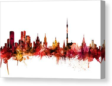 Moscow Skyline Canvas Prints