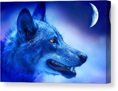 Wolf Moon Canvas Prints
