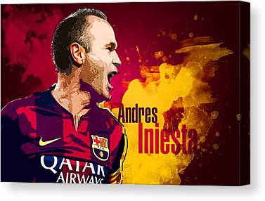 Andres Iniesta Canvas Prints