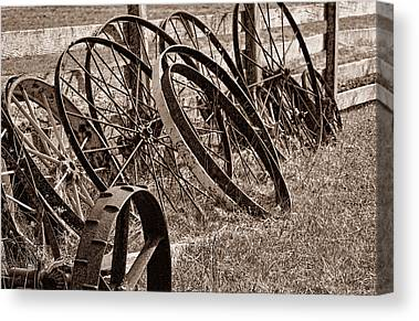 Wagon Wheels Canvas Prints