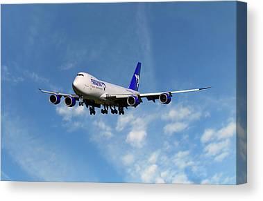 Boeing 747 Canvas Prints