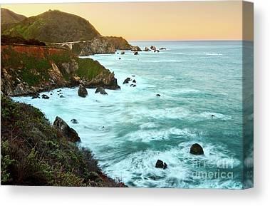 Ocean Cliffs Canvas Prints