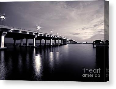 Biloxi Ocean Springs Bridge Canvas Prints