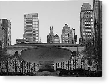 Bryant Park And Public Library Canvas Prints