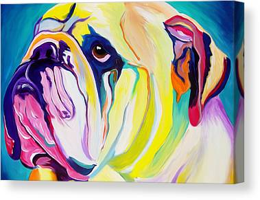 Colorful Dog Canvas Prints