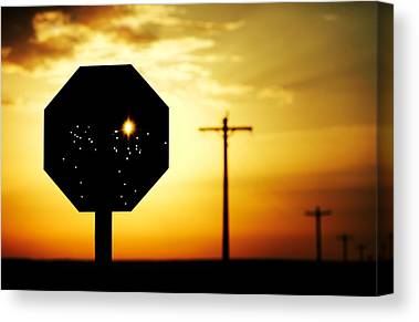 Stop Sign Canvas Prints