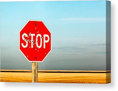Traffic Sign Canvas Prints