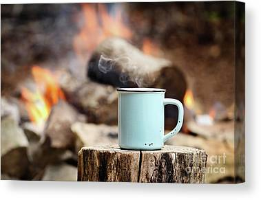 Camp Fire Canvas Prints