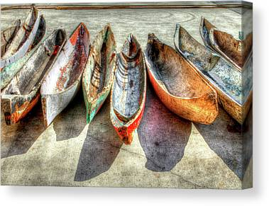 Colorful Boats Canvas Prints