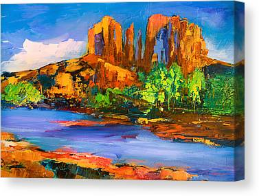 Red Rock Crossing Canvas Prints