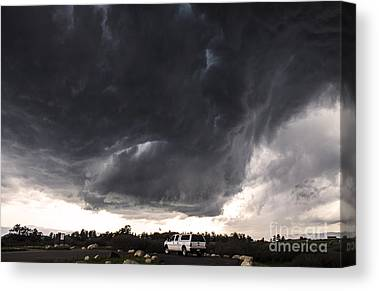Extreme Weather Paintings Canvas Prints
