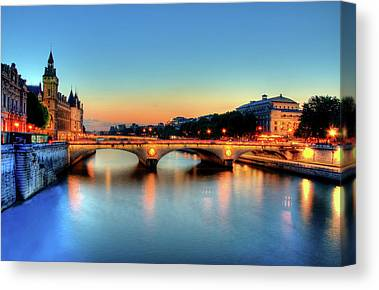 River Seine Canvas Prints