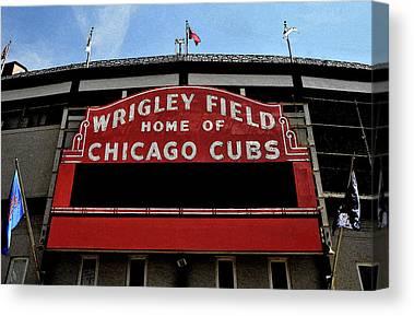Baseball Stadiums Digital Art Canvas Prints