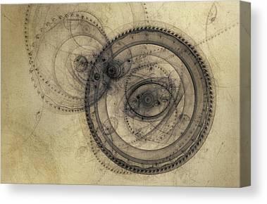 Clocks Digital Art Canvas Prints