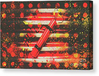 Pyrotechnics Canvas Prints