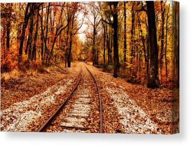 Indiana Autumn Digital Art Canvas Prints