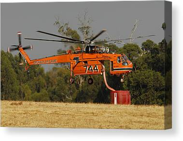 Skycrane Canvas Prints
