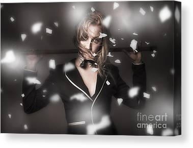 Show Girl Canvas Prints