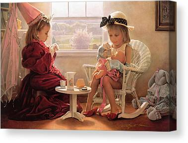 Tea Rooms Canvas Prints