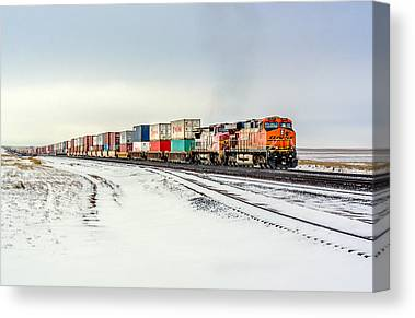 Railway Locomotive Canvas Prints