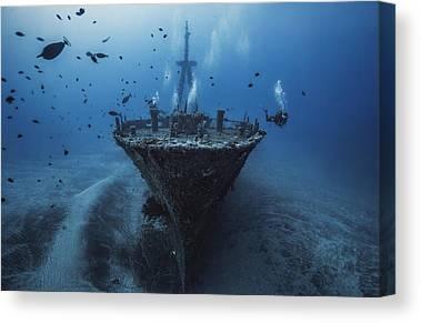 Ship Wreck Canvas Prints