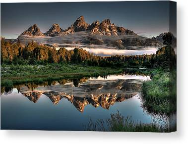 Mountain Cabin Canvas Prints