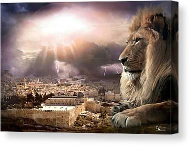 Jerusalem Digital Art Canvas Prints